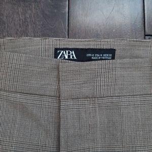 Zara Pants - Zara Checkered Cigarette Pants Size 10